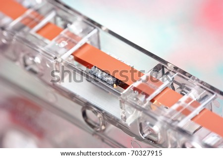old audio cassette macro