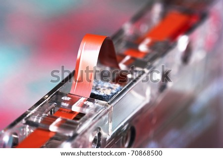 old audio cassette macro
