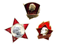 old badges of ussr with Lenin