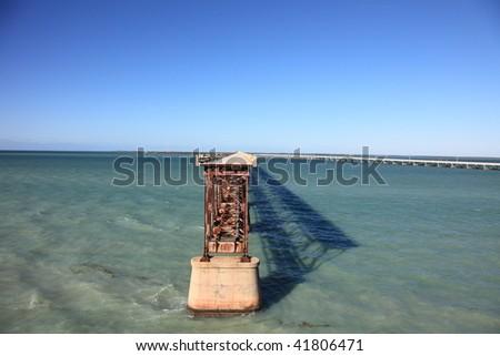 Old Bahia Honda Rail Bridge in the lower Florida Keys, USA
