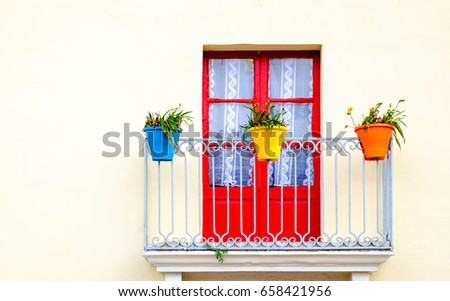 old balcony at a house