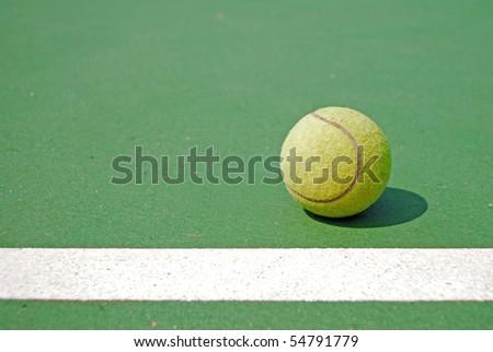 Old ball , tennisball - stock photo