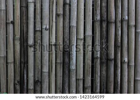 Old bamboo, bamboo background, bamboo wall #1423164599