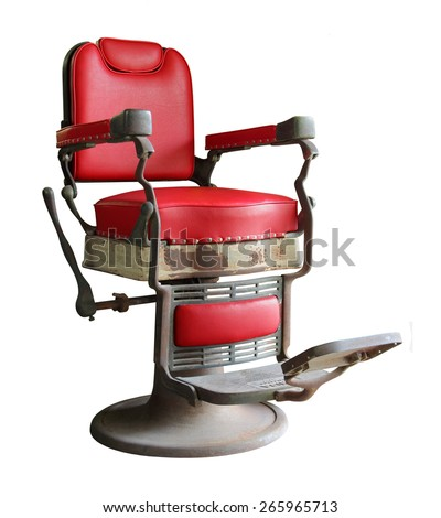 old barber chair isolated on white background #265965713