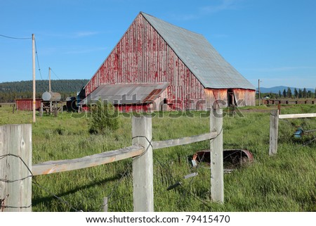 Old barn and fence, Oregon.
