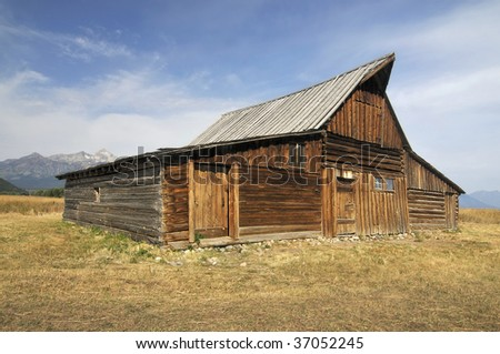 Old Barn by the Mountains