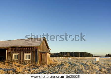 Old barn in Finland