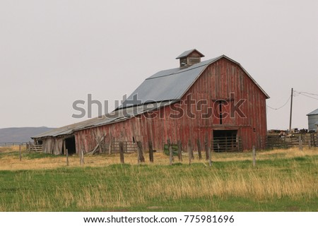 Old Barn near Garfield, Montana