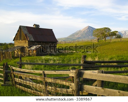 Old barn scene in western Colorado