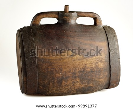 Old barrel with handles