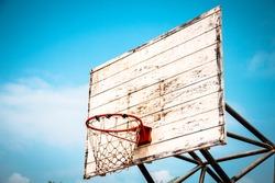 Old Basketball Shooting