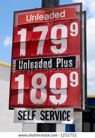 Old gas price sign Images and Stock Photos - Avopix com