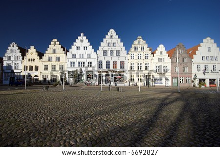 Old beautiful town from Schleswig-Holstein in Germany – Friederichstadt