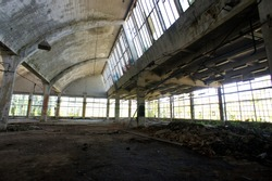 Old beautiful urbex factory with a lot of details