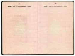 Old Belgian passport. Pages for visa marks