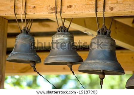 Old bells close up, Yaroslavl Church