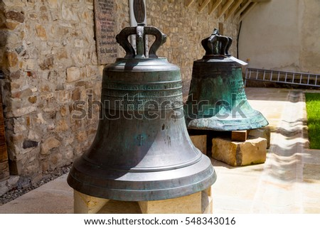 Old bells of Putna Monastery, Romania, Europe