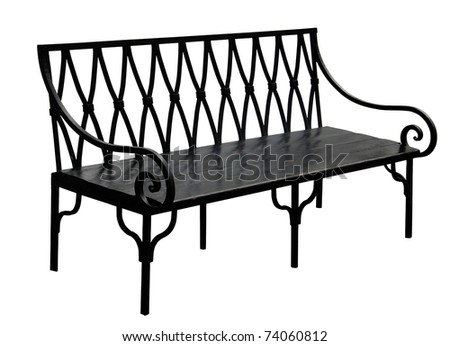 Old bench isolated on white background