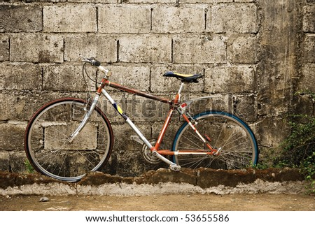 Old Bicycle on a Wall