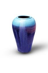 old big Ceramic vase isolated on white background.