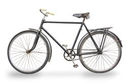 old bike isolated on white background