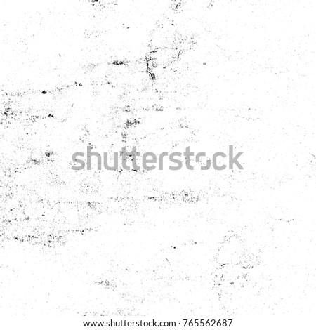 Old black and white grunge background. Monochrome abstract texture of dust, smudges, cracks, scuffs, scratches, chips to print. Vintage design elements for creative design #765562687