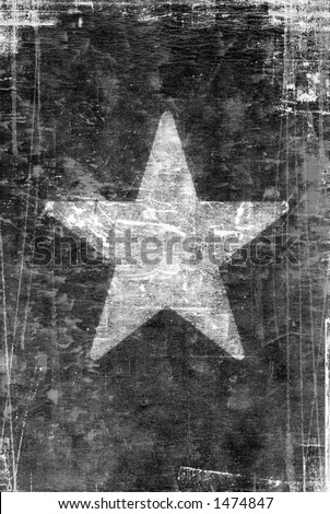 old, Black and white vintage paper with white star