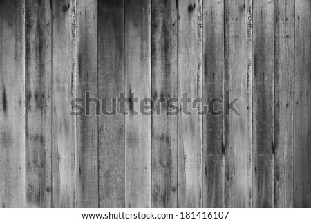 Old black and white wood plank background