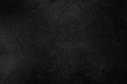 Old black background. Concrete wall texture. Dark wallpaper. Blackboard