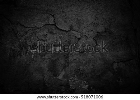 Old black background. Dark grunge texture #518071006