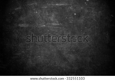 Old black background. Grunge texture. Dark wallpaper. Blackboard. Chalkboard. Wall - Shutterstock ID 332551103