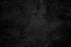 Old black background. Grunge wallpaper. Concrete texture