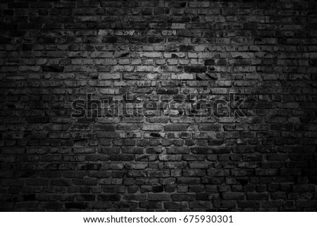 old black brick wall. grunge