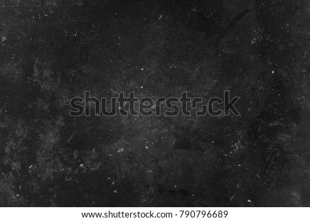 Old black grunge background. Concrete wall