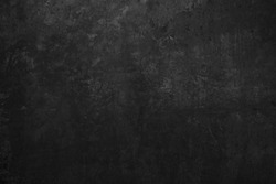 Old black grunge background. Wall texture. Dark board