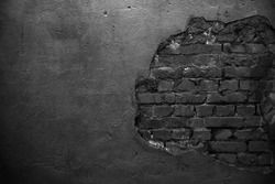Old black wall background. Texture