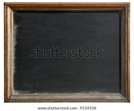 Old blackboard isolated on a white background.