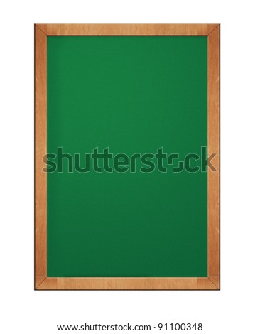old blank blackboard - stock photo