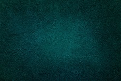 Old blue background texture. Emerald plaster cement. Virid stone wall. Abstract virid background