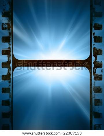 Blue Movie Film Strip