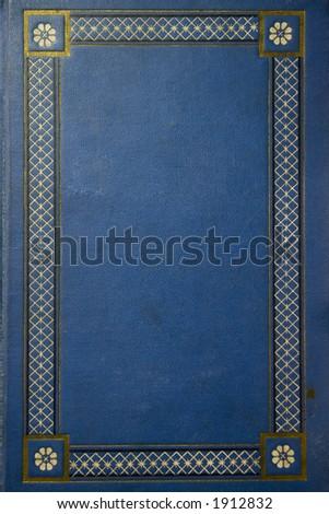 old blue grunge book