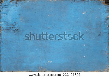 old blue paint weathered no frame wood board texture background