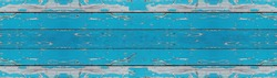 old blue turquoise aquamarine painted exfoliate rustic bright light wooden texture - wood background banner panorama long shabby