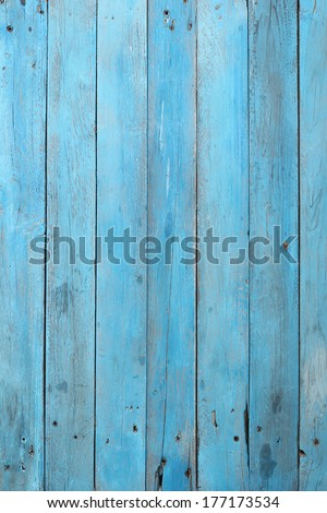 Old blue wood plank background