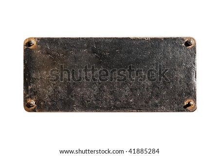 old board is on white background