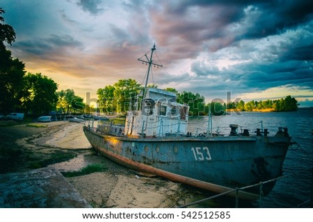 Stock Photo Old boat