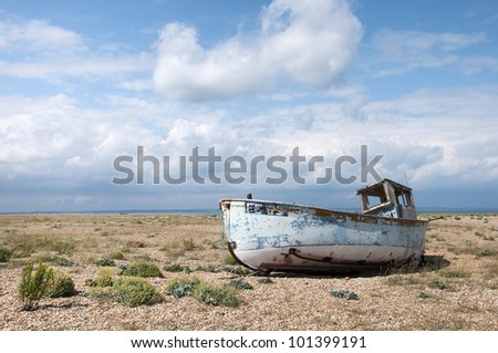 Old Boat at Dungeness, Kent, England