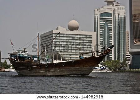 Old boat in Dubai #144982918