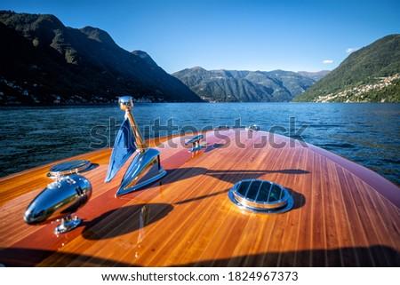 Old boat on Lake Como - Italy Foto stock ©