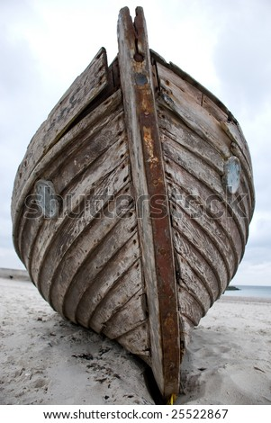 Old boat on the beach